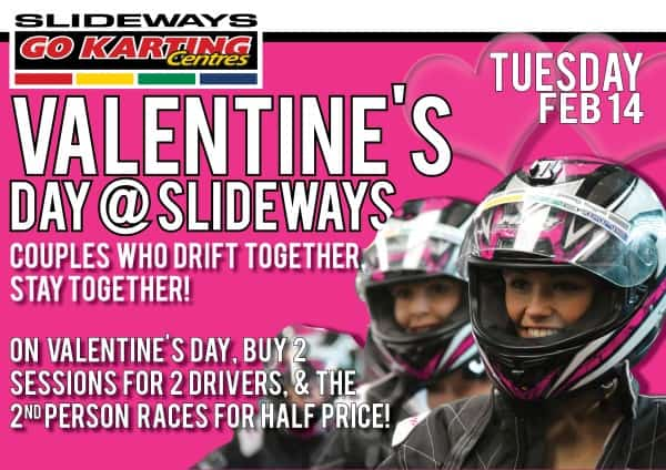 Valentine's Day Special at Slideways Go Karting Centres