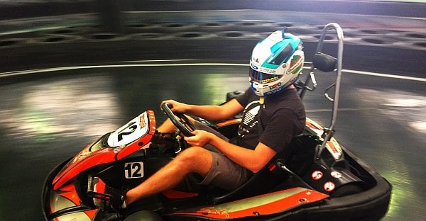 Chaz Mostert at Slideways Go Karting Brisbane