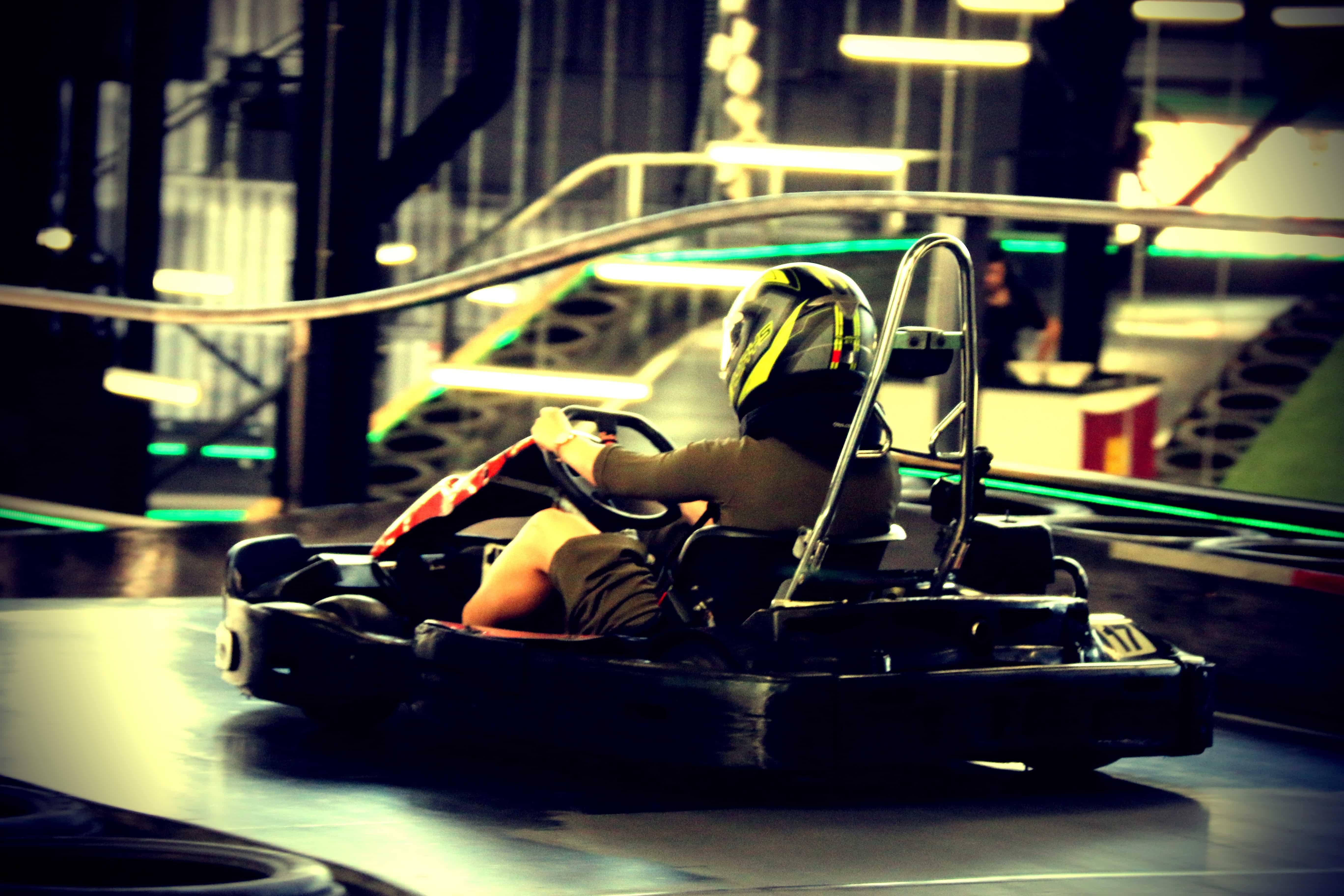 Multi-storey drift go kart fun