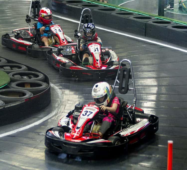 Cadet go kart racing in Brisbane