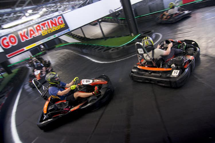 Go karts on the hairpin at Go Karting Brisbane