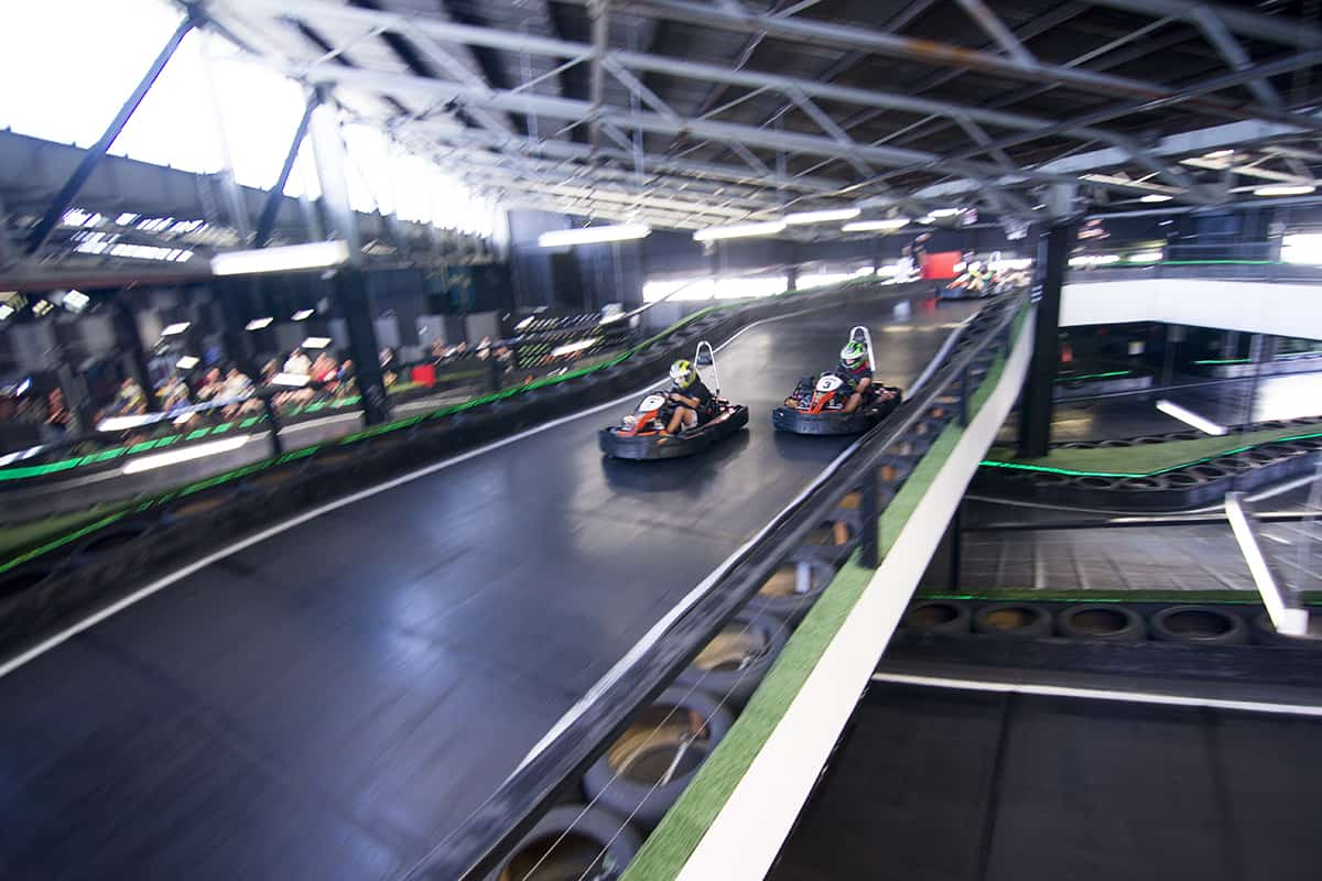 Our two level indoor go karting track
